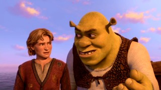 On the boat ride to Far Far Away, Shrek talks up the throne to Fiona's cousin Artie, who looks and sounds like Justin Timberlake.