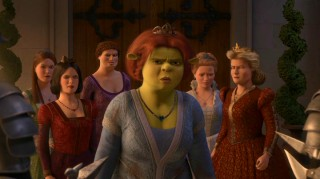 Princess Fiona (who actually stays fat and ugly throughout this entire movie) leads the pack as the royal ladies get tough.
