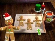 One of these gingerbread men looks just like Gingy. Can you guess which one? Do it five times and you've mastered Gingy's Dunking Game/