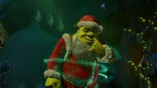 It wouldn't be Shrek without a booger joke. Here, Ogre Claus does some magical gold-digging.