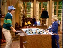 Edward and Ricky play a game of foosball in one of their first encounters.
