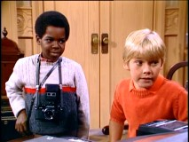 "Wha'choo talkin' bout, Ricker? Arnold Jackson (Gary Coleman) is intrigued by Ricky's hacking skills in ""The Great Computer Caper."""
