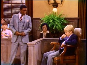 "Though one of just four characters seen in the opening credits, Leonard Lightfoot's character Leonard Rollins (Edward's lawyer) doesn't figure too prominently. In ""Twelve Angry Kids"", his unceremonious final appearance, Leonard defends Ricky on trial."