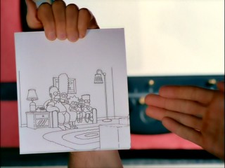 A live-action flipbook shot is one of Season 13's most memorable opening sequence couch gags.