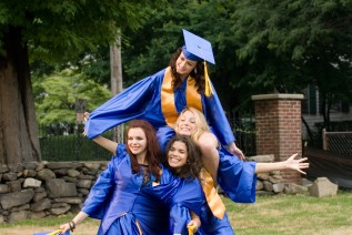 "Graduation is upon The Sisterhood of the Traveling Pants in ""The Sisterhood of the Traveling Pants 2."""