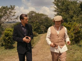 The slick book agent (Joshua Jackson) and the wild ex-author (Harvey Keitel) walk through rural Tuscany. That's basically the movie in one frame!
