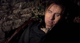 As Skellig, Tim Roth spends much of the film in shadows, in pain, and on an incline.