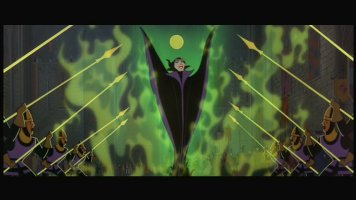 Maleficent makes a flashy exit.