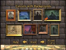 Layouts and Backgrounds in the Virtual Galleries