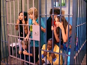 "Everyone winds up in jail on a visit to ""Parrot Island."" How wacky!"
