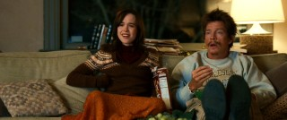 Cocoa Krispies, popcorn, and Spanish television are a winning combination for couch pals Vanessa (Ellen Page) and Chuck (Thomas Haden Church).