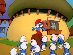 When Papa Smurf talks, everyone listens.
