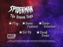 """Spiderman: The Venom Saga"" DVD Main Menu"