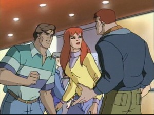Peter, Mary Jane, and Eddie at the movies. Somebody should have called Fandango!