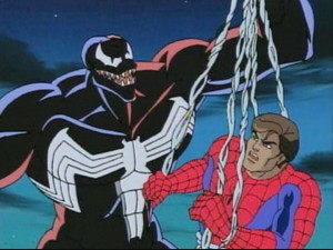 Venom makes a discovery for the ages. Woah, so Peter Parker is really Spider-Man?! What, you didn't know that?