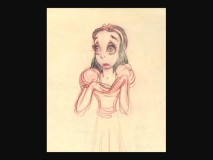 Snow White's character design gallery features a look based on actress ZaSu Pitts. Disney Consumer Products would probably be horrified if this were the character's final look.