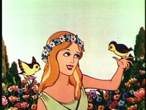 "The ""Goddess of Spring"" shares an affinity for birds with Snow White."