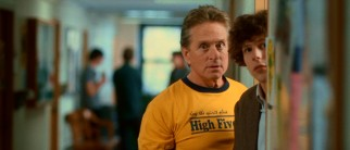 From one sophomore to another, Ben (Michael Douglas) gives nerdy student Daniel Cheston (Jesse Eisenberg) tips for getting girls. Keep the spirit alive - high five!