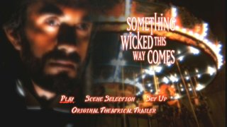 Disney's Main Menu for Something Wicked This Way Comes
