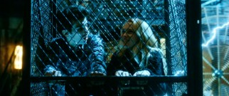 Dave (Jay Baruchel) shows Becky (Teresa Palmer) the good time that can be generated with a musical electrical show performed by a Tesla coil.