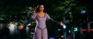 You're right if you think Monica Bellucci is too big an actress to accept a prologue cameo and walk-by; Veronica returns for the Bowling Green Park finale, still possessed by Morgana le Fay.