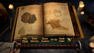 With Nicolas Cage on one page and a dragon on the other, the main menu's Encantus reads like Jay Baruchel's 2010 scrapbook.