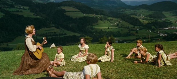 While enjoying a day out, Maria (Julie Andrews) teaches the children to sing a song that will be ingrained in their minds and the audience's permanently.