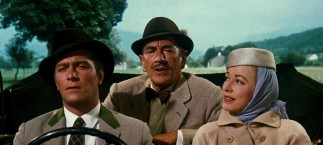 As the Captain (Christopher Plummer) drives the Baroness (Eleanor Parker) home to meet his children, Max (Richard Haydn) notices the sound of music emanating in the air.