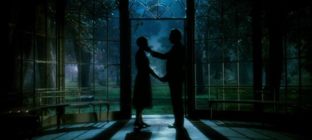 Maria and the Captain share a private moment together in the moonlit gazebo.