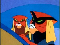 "Brak and his twin brother Sisto create trouble for Jan and Space Ghost in ""The Lure."""