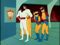 Jan and Jace shiver in a severe temperature drop that Space Ghost suspects The Iceman is behind.