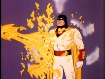 Mere dragon's fire can do no harm to Space Ghost.