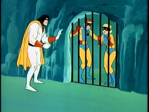 In a sight that's all too common, Space Ghost rescue an imprisoned Jace and Jan.