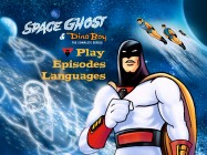 Space Ghost claims the foreground in the musical Main Menu that adorns three of the four disc sides.