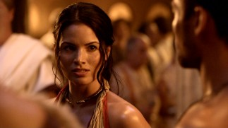 Katrina Law plays Mira, a slave girl bestowed upon Spartacus that he wants nothing to do with at first.