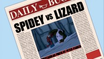 Credit for the Daily Bugle's Spider-Man/Lizard showdown cover photo gets Peter in trouble with his colleagues at Dr. Connors' lab.