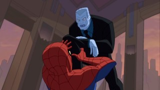 "Spider-Man learns why Tombstone, a.k.a. L. Thompson Lincoln, is also called ""Big Man."" He's quite literally a big (blue) man."