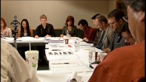 "This table read screencap from ""Spider-Man Re-Animated"" can serve as a fun photo hunt. Can you find the man who plays Freddy Krueger, the woman who's played Pocahontas and her mother, and a Jamba Juice container?"