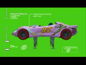 "Take a closer look at the Flying Foxes' Delila Roadster in ""Speed Racer: Supercharged!"""