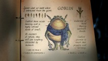 Goblins are one of ten subjects covered with text and drawings in this interactive, simplified version of Arthur Spiderwick's Field Guide.