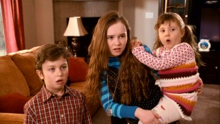 "These three kids -- Ian (Will Shadley), Farren (Madeline Carroll), and Nora (Alina Foley) -- aren't at all pleased to be watched by their mom's ""boring"" boyfriend."