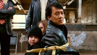 It isn't a Jackie Chan family film until he's been tied up with some little ones.
