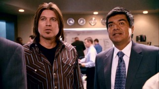 Prominently-billed sitcom fathers Billy Ray Cyrus and George Lopez play CIA agents in contact with Bob. Nice job looking the part, Billy Ray!