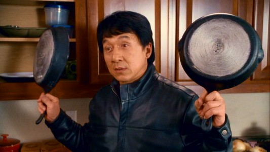 "Jackie Chan gives ""The Spy Next Door"" two frying pans up, which in China is the highest cookware score you can assign a film."