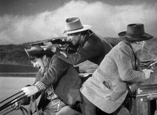 In the film's one action-packed set piece, our travelers try their best to fend off Apache gunfire.