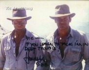 "This is probably the closest Indiana Jones will get to the Criterion Collection in our lifetimes. ""Raiders of the Lost Ark"" stuntman and Yakima Canutt fan Vic Armstrong shares Harrison Ford's wittily autographed photo."