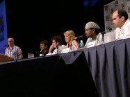 The panel discussion at Comic-Con is full of inside jokes and sarcastic one-liners.