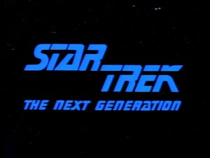 "The main title logo for ""Star Trek: The Next Generation"", 1987's sequel series that ran more than twice as long as the original."