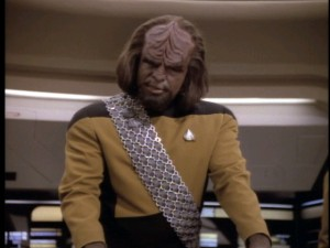 Lieutenant Worf (Michael Dorn) plays a small role in the episodes chosen for The Best of Star Trek: The Next Generation - Volume 2, perhaps giving newcomers a false impression of his importance in the show.
