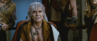 Fueled by revenge, Khan (Ricardo Montalban and his 61-year-old pecs) attacks the USS Enterprise.